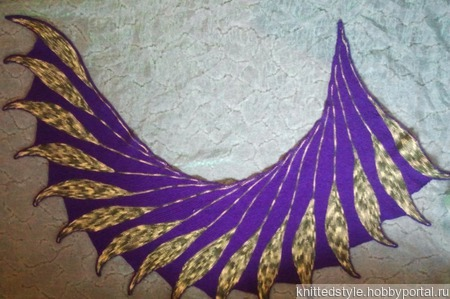Теплая шаль «Птица дивная» ручной работы на заказ