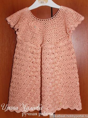 Платье  на 1-2 года ручной работы на заказ