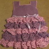 Платье с рюшами для модницы