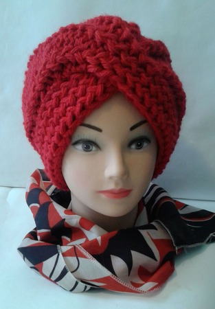 Вязанная шапка-чалма женская ручной работы на заказ