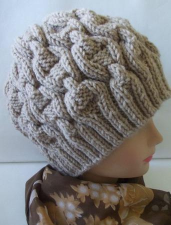 Зимняя вязаная шапка для женщин ручной работы на заказ