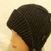 Шапка-шляпа вязаная