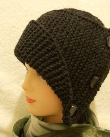 Шапка-шляпа вязаная ручной работы на заказ