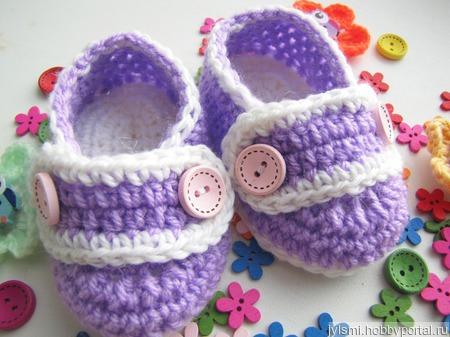 Пинетки ботиночки 0-3 месяца! ручной работы на заказ
