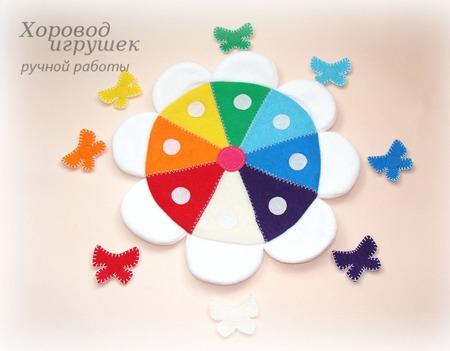 Развивающая игрушка Цветик-восьмицветик ручной работы на заказ