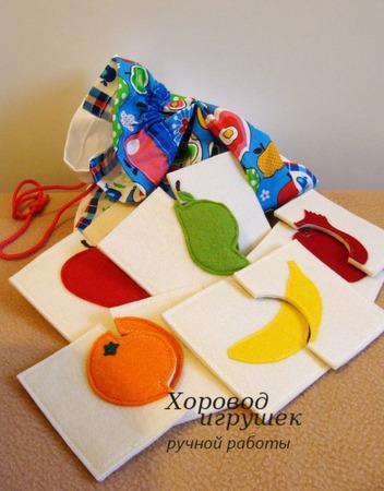 Развивающие пазлы из фетра для детей от 1 года ручной работы на заказ