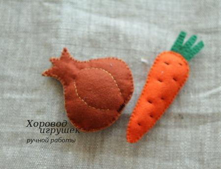 Овощи из фетра ручной работы на заказ