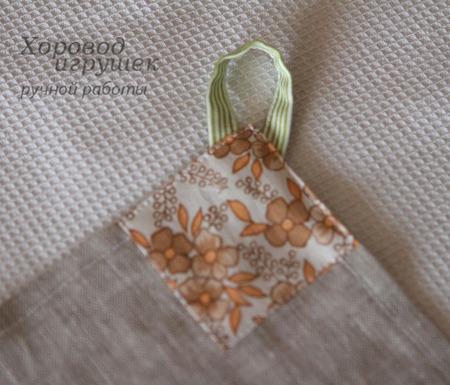 Полотенце кухонное льняное Груши ручной работы на заказ