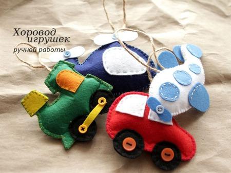 Ёлочные игрушки из фетра Для мальчишек ручной работы на заказ