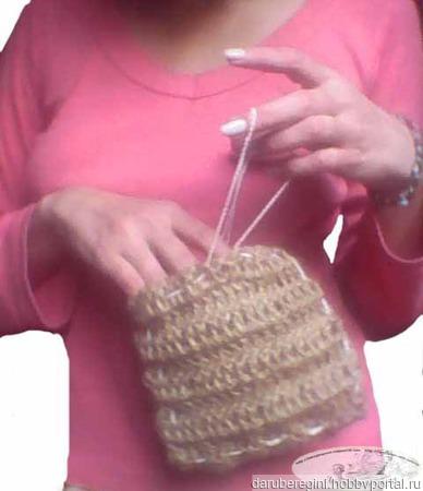 Мочалка-сумка-трансформер ручной работы на заказ