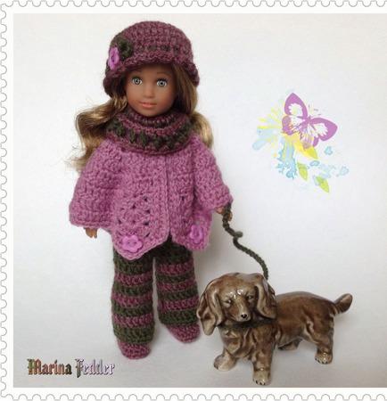 Осенний комплект для куклы ручной работы на заказ