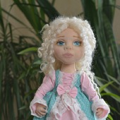 Авторская интерьерная текстильная кукла