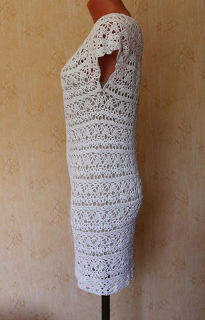 """Платье ажурное """"белоснежные лилии"""" ручной работы на заказ"""