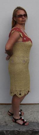 """Платье """"Золотое сердце"""" ручной работы на заказ"""