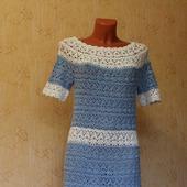 фото: Одежда (бело-голубое платье)