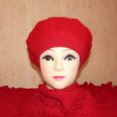 Беретик вязано-валяный