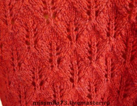 Болеро полушерстяное красное ручной работы на заказ