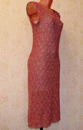 """Платье """"Красное в золоте"""" ручной работы на заказ"""
