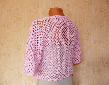 Болеро розовое ручной работы на заказ