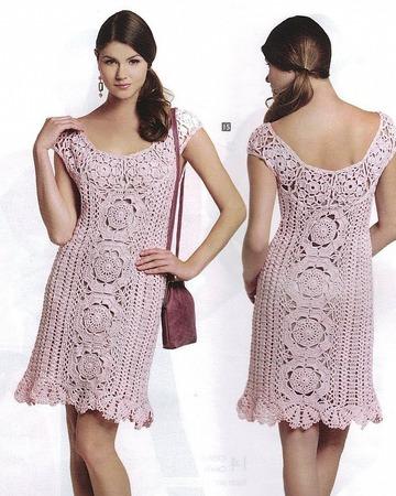 Платье ажурное из коллекции ручной работы на заказ