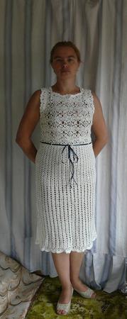 """Платье ажурное """"В стиле Шанель"""" ручной работы на заказ"""