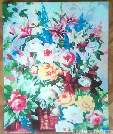 Цветочный букет ручной работы на заказ
