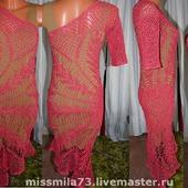 """Платье с асимметричной линией плеча """"Изумительная салфеточка"""""""