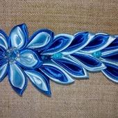 """Заколка """"Голубой цветок"""""""