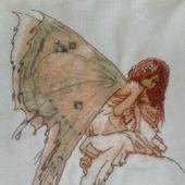 Вышивка  фея-бабочка