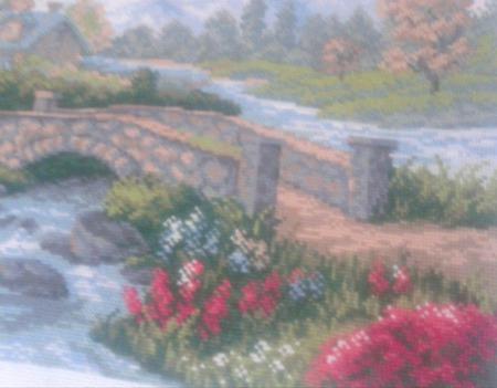 Мост через речку ручной работы на заказ
