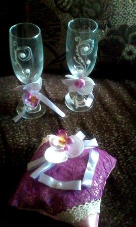 Свадебный комплект ручной работы на заказ