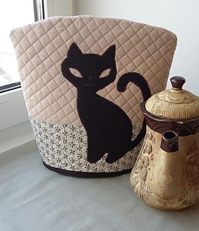 """Грелка на чайник """"Кошка"""" ручной работы на заказ"""