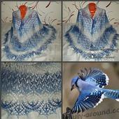 """Шаль """"Синяя птица"""""""
