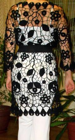 Платье-туника по мотивам Лауры ручной работы на заказ