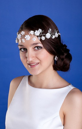 """Украшение для волос """"Лиана"""" 7130 хризантема ручной работы на заказ"""