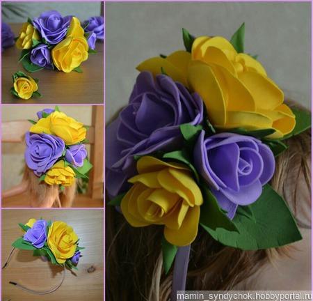 Цветочный ободок ручной работы на заказ