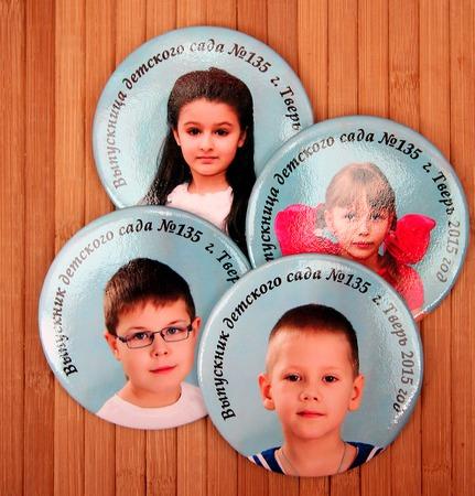 Значки выпускника детского сада с фото ручной работы на заказ