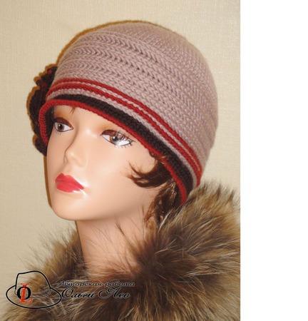 Вязаная шляпа Элла ручной работы на заказ