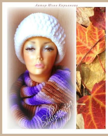 """Снуд """"Осенний вечер"""" ручной работы на заказ"""