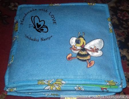 """Развивающая книжка """"Пчелка"""" ручной работы на заказ"""