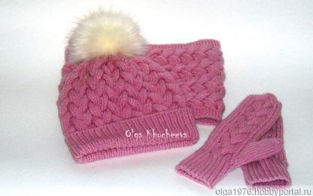 Зимний комплект с косами ручной работы на заказ