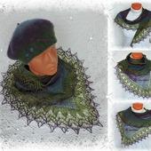 Комплект вязано-валяный