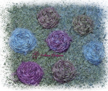 Комплект вязано-валяный ручной работы на заказ