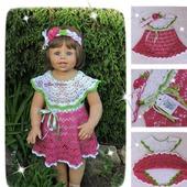 Комплект платье-боди и повязка