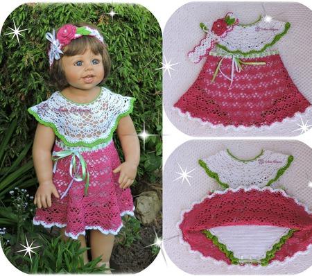 Комплект платье-боди и повязка ручной работы на заказ