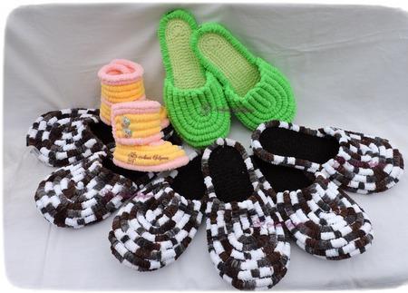Плюшевые тапочки для взрослых и детей ручной работы на заказ