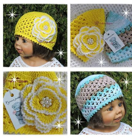 Летние шапочки для мальчиков и девочек ручной работы на заказ