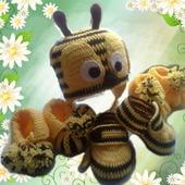 фото: Одежда для новорожденных и детей до года (пчелка)