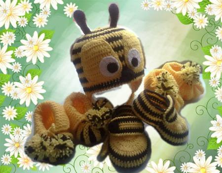 """Комплект """"Пчелка"""" ручной работы на заказ"""