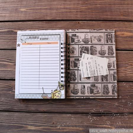 Трэвелбук (блокнот путешественника) ручной работы на заказ